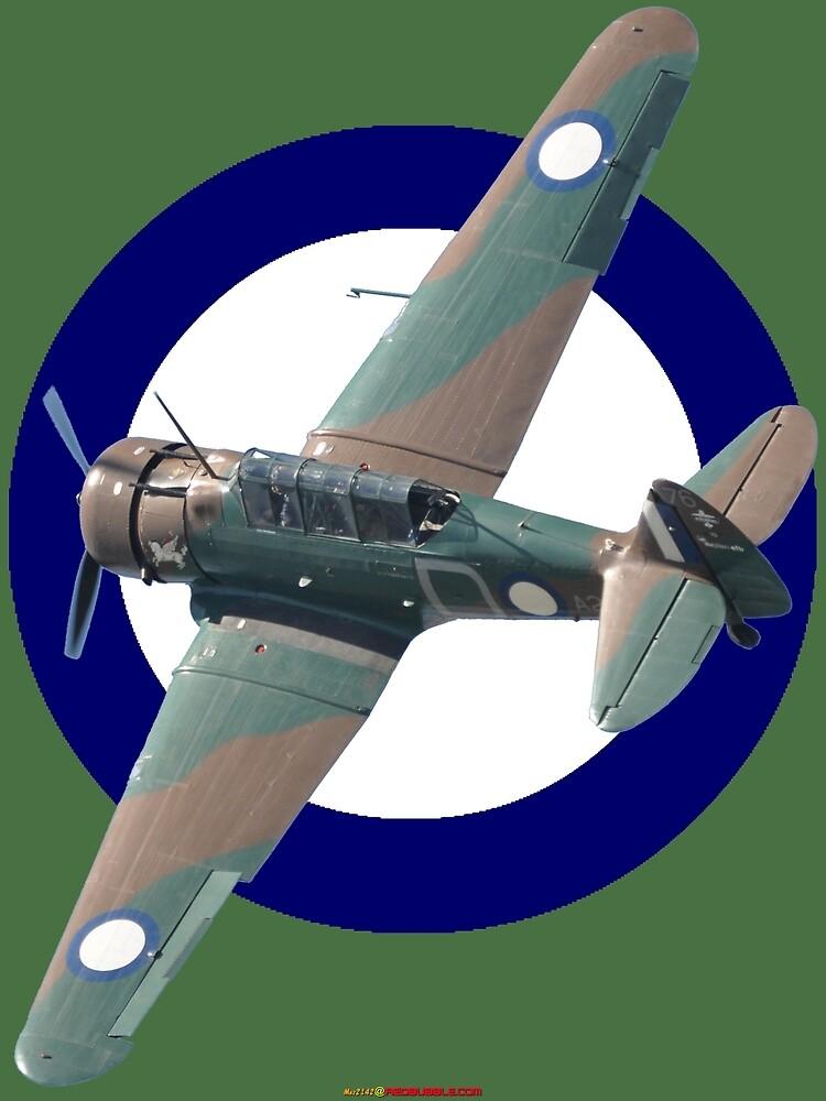 Pacific WW2 RAAF Roundel Wirraway VH-WWY A20-176  by muz2142