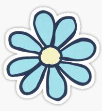 life is good flower blue Sticker