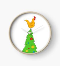 chook xmas Clock