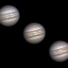 Jupiter and the Transit of Io by Mike Salway