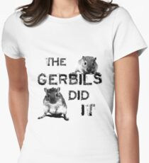 The Gerbils Did It Women's Fitted T-Shirt