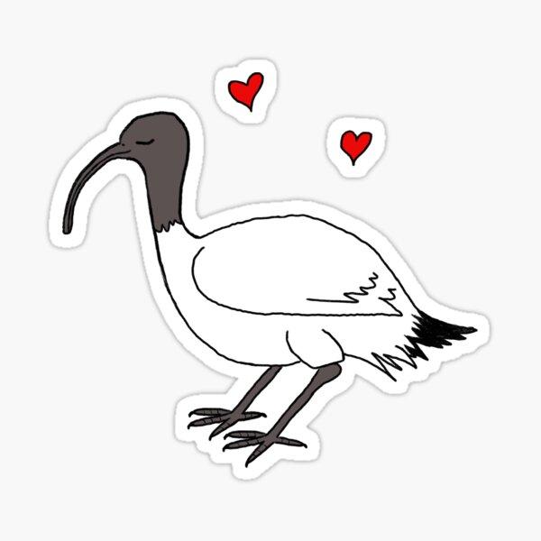Ibis love Sticker