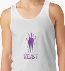 Resist Purple Handprint Men's Tank Top