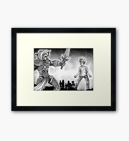 Forts Characters Framed Print
