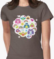 Owl cloud T-shirt  Womens Fitted T-Shirt