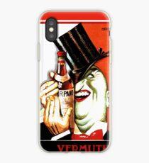 Italian Booze Vintage Advert Creepy Man in Tux iPhone Case