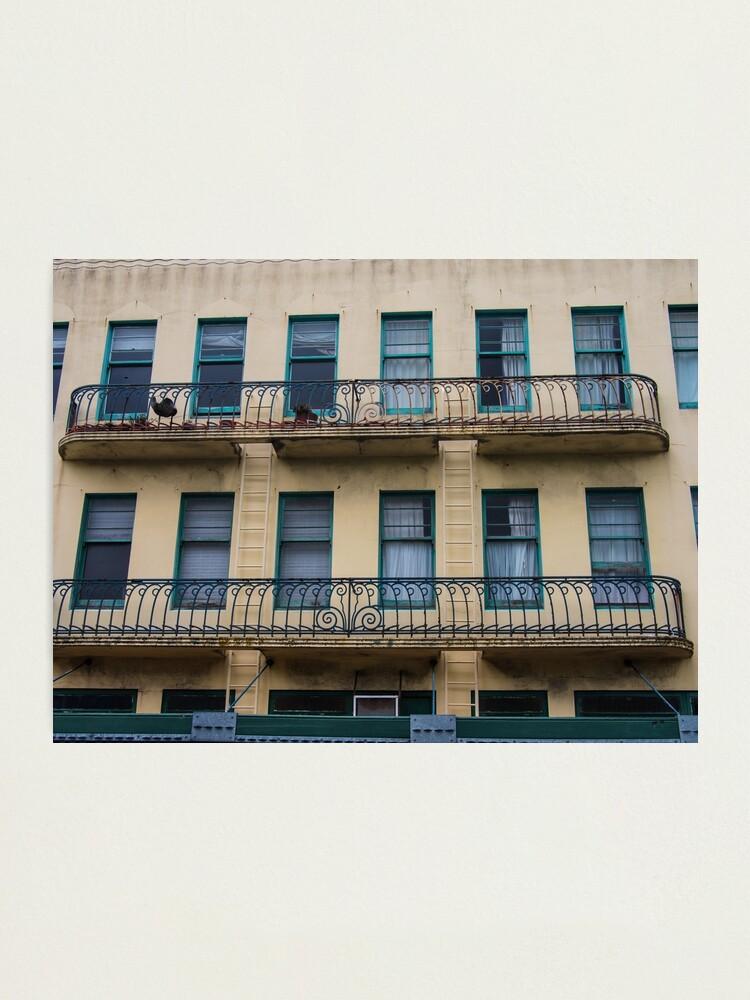 Alternate view of Building Balconies Photographic Print