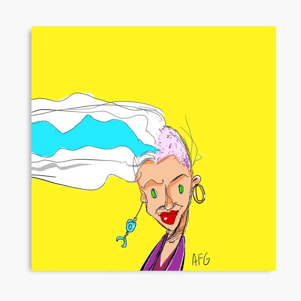 Shaved Head Girl Canvas Print