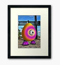 Saturated Egg Man Framed Print