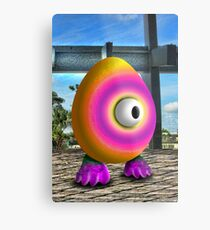 Saturated Egg Man Metal Print