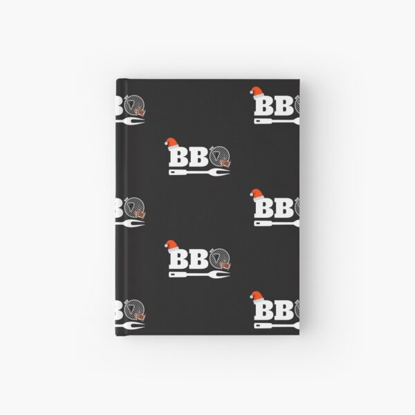 Christmas BBQ Smoker Shirt Xmas Barbecue Holiday Tee Hardcover Journal