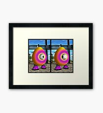 Saturated Egg Man Combined Framed Print