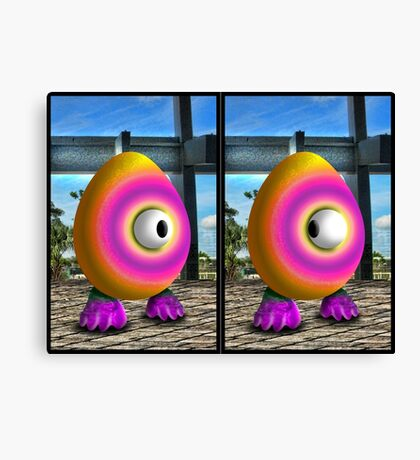 Saturated Egg Man Combined Canvas Print