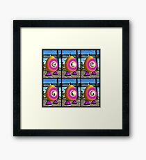 Saturated Egg Man Six Framed Print