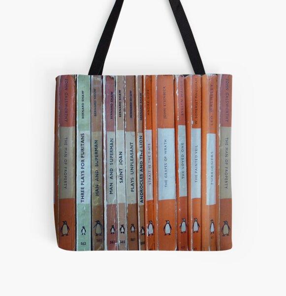 Old Penguin Classics Bolsa estampada de tela