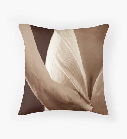 Back Zipper Throw Pillow
