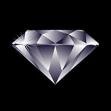 Sparkly Precious Diamond Emoji by PrintPress