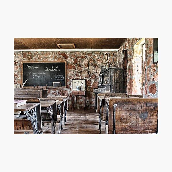 One Room School House Photographic Print