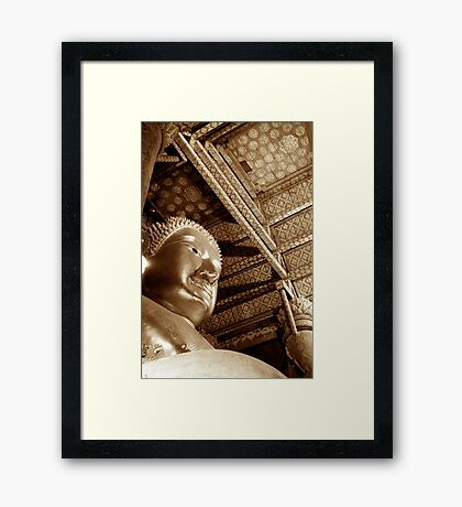 Black & White Budda Framed Print