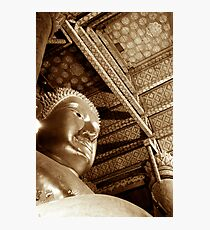 Black & White Budda Photographic Print