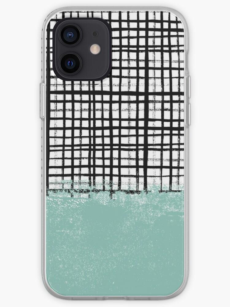 Mila - Grille et menthe - peinture, art, étui de téléphone portable pour artiste, étui de téléphone grille | Coque iPhone
