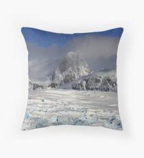 Glacier, Antarctic Peninsula Throw Pillow