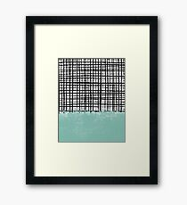Mila - Grid and mint - paint, art, artist cell phone case, grid phone case Framed Print