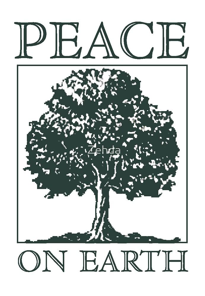Peace On Earth Tree by Zehda