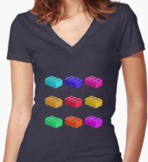 Warhol Toy Bricks Women's Fitted V-Neck T-Shirt