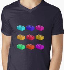 Warhol Toy Bricks Men's V-Neck T-Shirt