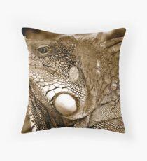 Big Iguana Throw Pillow