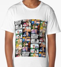 Faces of Who Long T-Shirt