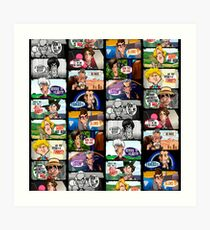 Faces of Who Art Print