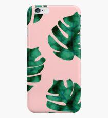 Tropical fern leaves on peach iPhone 6 Case