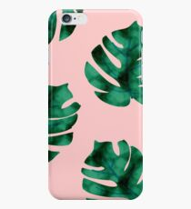 Tropical fern leaves on peach iPhone 6s Case