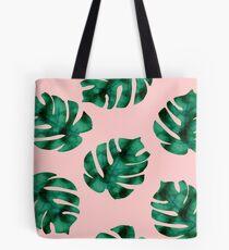 Tropische Farnblätter auf Pfirsich Tasche