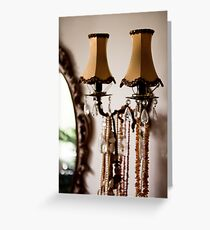Decorative retro night lamps Greeting Card