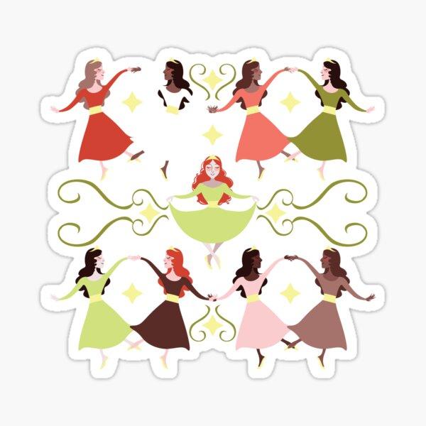 Nine Ladies Dancing Sticker