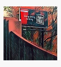 Party Foul Photographic Print