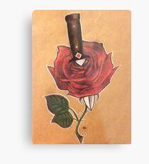 rose and dagger Metal Print