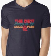 The Best Things in Life ARRR Free Men's V-Neck T-Shirt