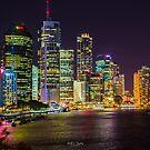 Brisbane at Night by Keith G. Hawley