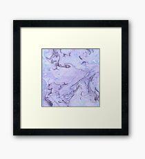 Marbly Lavender Framed Print