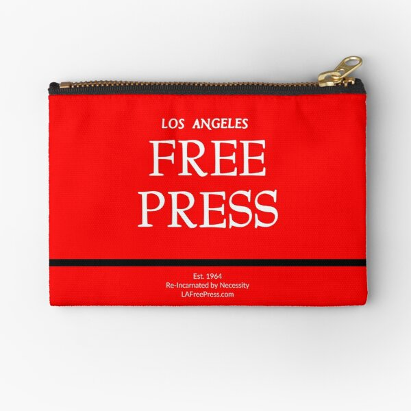 Los Angeles Free Press Red Logo on Pouches Zipper Pouch