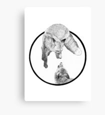 The Fox Playing Canvas Print