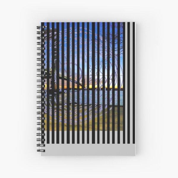 Spiral fantasy in stripes. Spiral Notebook