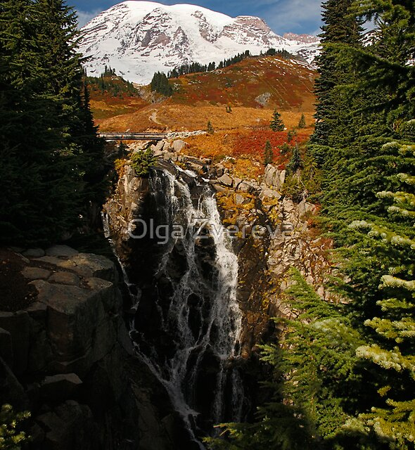 Mt Rainier at Autumn by Olga Zvereva