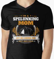 Spelunking Mom Christmas Gift or Birthday Present Men's V-Neck T-Shirt
