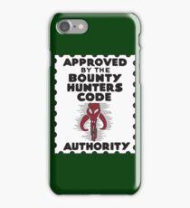 Bounty Hunters Code Authority iPhone Case/Skin