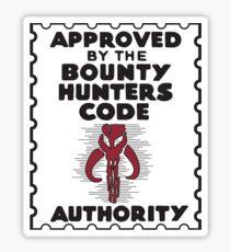 Bounty Hunters Code Authority Sticker